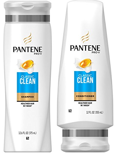 Pantene Pro-V Classic Clean Shampoo and Conditioner Set, 12.6 Fl Oz and 12 Fl Oz (Set Contains 2 items)