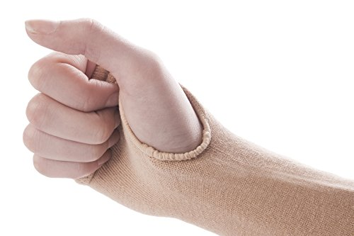 DJMed Arm Skin Protectors – Protective Arm Sleeves, For Sensitive Skin, Help Protect From Tears & Bruising – Pair, Tan (Small)