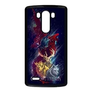 LG G3 Case Covers Juego de Tronos Negro Ilustración Volver teléfono personalizada Caso C5H6KV