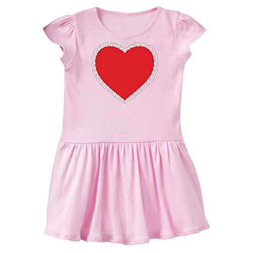 inktastic - Valentine's Day Red Lace Heart Toddler Dress 4T Ballerina Pink 287bd (Dress Ballerina Heart)