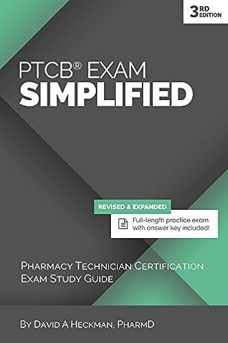 ptcb exam simplified 3rd edition pharmacy technician certification rh amazon com SHRM Exam Study Guide Exam Study Guide Book