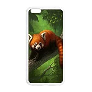 Cute Red Panda / Lesser Panda iPhone 6 Plus 5.5 Inch Plastic and TPU Durable Phone Case Cover(Laser Technology)