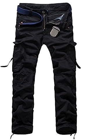 DigerLa Men's Casual Cargo Pants Black