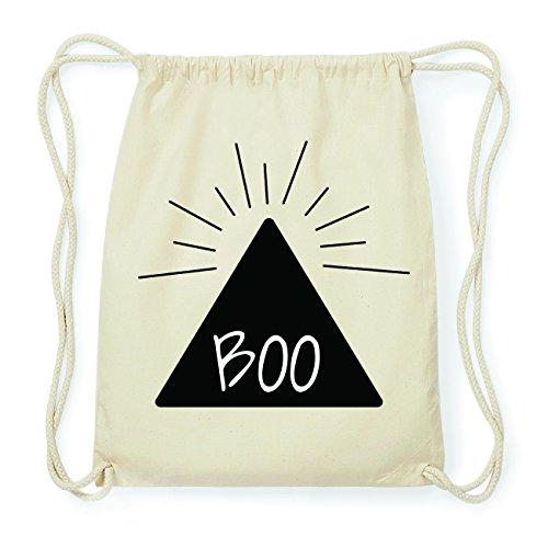 JOllify BOO Hipster Turnbeutel Tasche Rucksack aus Baumwolle - Farbe: natur Design: Pyramide Vw9Izw6