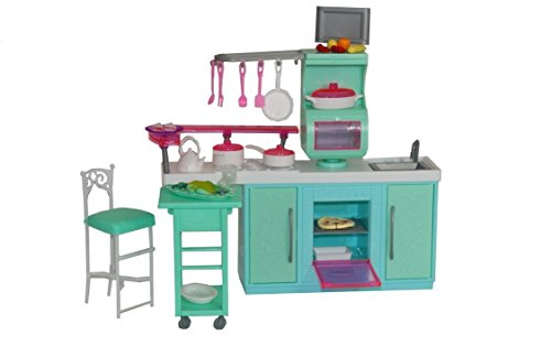 [Huaheng Toys] Huaheng Toys BarbieSize Dollhouse Furniture Cooking Corner Kitchen Set by 2816 [parallel import goods]