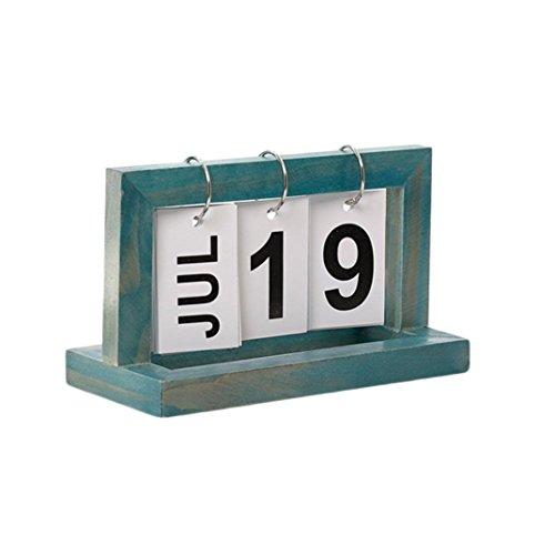 Fheaven (TM) DIY Desk Calendar Perpetual Calendar Crafts Office School Decoration Wallpapers Christmas New Year Gifts (B)