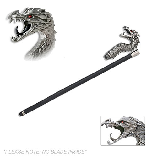 - Stare of the Dragon Walking Cane Staff Mobility Stick 35 Inch Long Stylish