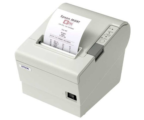 Epson TM-T88V Thermal Receipt Printer, USB and Serial Interfaces, Auto-cutter. Includes Power Supply. Color: Cool White. (Interface Cables Not Included) . . . (