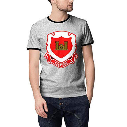 Men's Style Cable Tee Breathable Pocket T Shirt US Army Corps of Engineers Regimental Crest ()