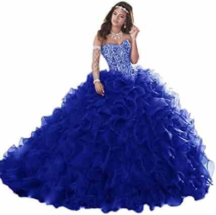 bdbbe0df616 Jerald Norton Ltd Gorgeous Heavy Beaded Organza Quinceanera Dress for Sweet  16 Princess Ball Gowns