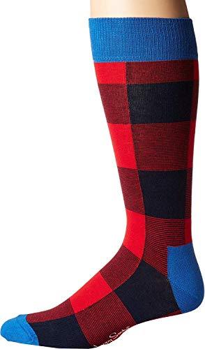 Happy Socks Men's Lumberjack Socks Red/Navy Men's Shoe Size 10-13