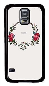 Retro Pattern PC Black Hard Case Cover Skin For Samsung Galaxy S5 I9600