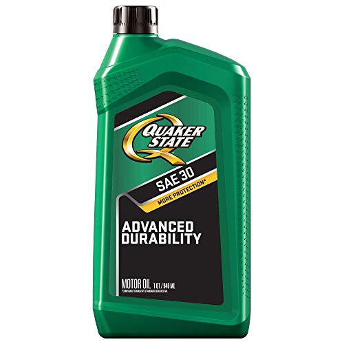 Push Mower Oil - Quaker State (550035190-6PK) SAE 30 Heavy Duty Motor Oil - 1 Quart, (Pack of 6)