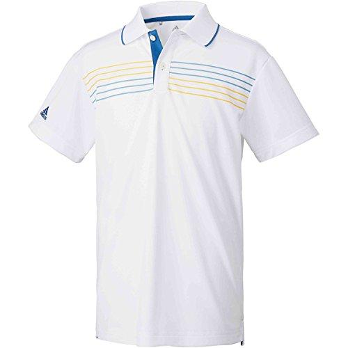アディダス Adidas 半袖シャツ?ポロシャツ チェストストライプ 半袖ポロシャツ ジュニア ホワイト 130
