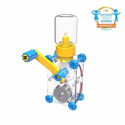 ODEV Hand Crank Generator Lights Kits STEM Projects Toys for Boys Girls Age 8+,DIY Science Project -