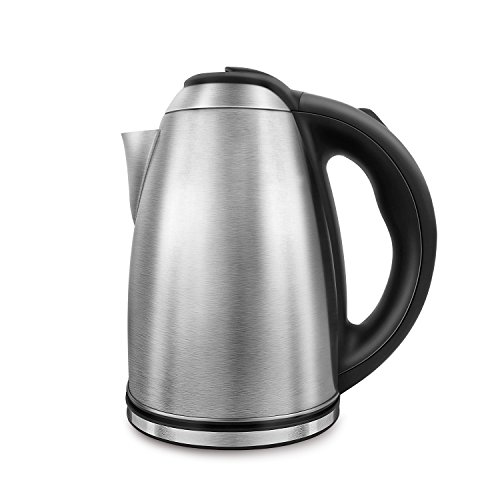 Electric Kettle Stainless Steel Hot Water Kettle 1200W, Cordless Tea Kettle 1.8 Liter, Auto Shut-off, Perfect For Brewing Teas, Coffee, Cold Brew, Espresso, and More!
