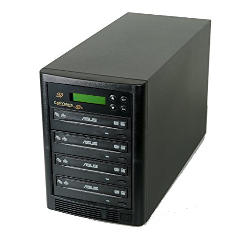 Stand Copystar Copier (Copystar SYS-500GB-4+USB-CST Dvd Duplicator 500 Gb Hard Drive Smart Plus Usb 3.0 To 4 Cd Dvd Burners Sata Tower)
