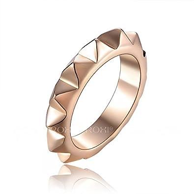 Gear Wedding Ring | Amazon Com 18k Rose Gold Gear Band Engagement Wedding Statement
