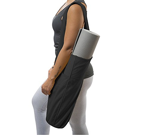 Parkside wind Yoga Mat Bag Sling Carrier with Multi-Functional Storage Pockets Great for Yoga Pilates and Gym