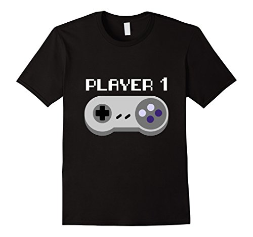 Mens Player 1 Video Game Group Halloween Costume T-shirt Large (Video Gamer Halloween Costumes)