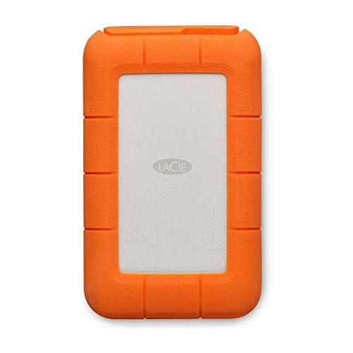 chollos oferta descuentos barato LaCie STFS4000800 Disco Duro Externo 4 TB USB Tipo C Interfaz Thunderbolt Color Naranja y Plateado