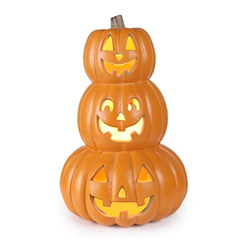 Outdoor Lighted Jack O Lanterns in US - 1