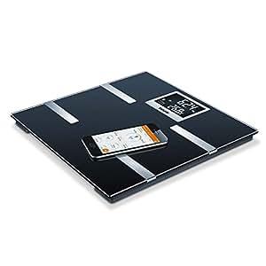 "Beurer BF-700 - Báscula de baño diagnóstica Bluetooth, compatible con App ""Health Manager"", color negro"