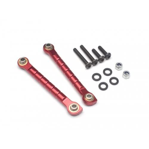 VIM #VIM/YETI025R Aluminum Anti-Sway Bar Links - 1 Pair Red for Axial Yeti