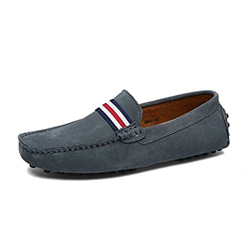 detailed pictures classic fit newest selection TDA Men's British Comfort Stripes Suede Driving Loafers Boat ...
