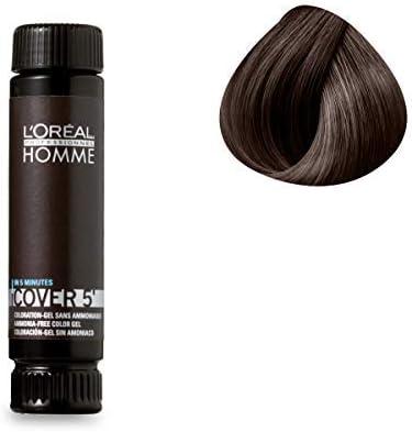 LOréal Color Professional gel sin gel de amoníaco marrón oscuro 3 x 50 ml: Amazon.es: Belleza
