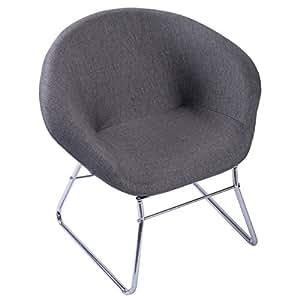 Amazon Com Giantex Modern Gray Accent Chair Leisure Arm