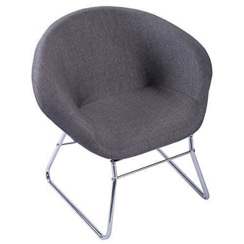 Leisure Accents - Giantex Modern Gray Accent Chair Leisure Arm Sofa Lounge Living Room Home Furniture