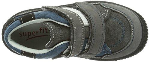 Superfit 3-00045 Cooly - Zapatos de primeros pasos de cuero bebé gris - gris (stone kombi 06)