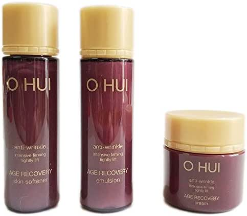 OHUI Anti-wrinkle Intensive Firming Lightly Lift Travel Set, Containing Age Recovery Skin Softener Toner Emulsion And Cream, Anti-aging Anti-Wrinkle Nourishing And Moisturizing Skin.