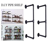 Diwhy DIY Industrial Black Pipe Bookshelf Wall