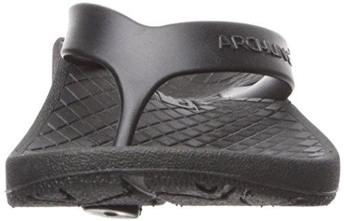 Archline Orthese Plantaire Fasciitis Opluchting Flip Flops Zwart / Zwart