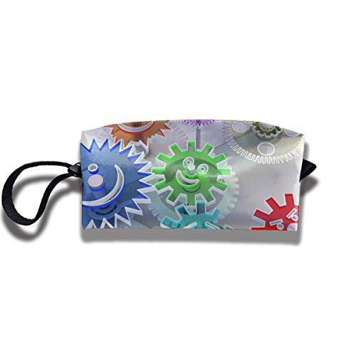 Kla Ju Portable Pencil Bag Cosmetic Pouch Gear Database Stationery Purse Storage Organizer -