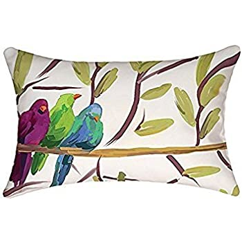 rectangular throw pillow cover lumbar pillow case flocked together 12 x 18 inch outdoor indoor pillow case fast shipping from usa by b