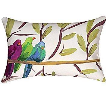 Rectangular Throw Pillow Cover Lumbar Pillow Case Flocked To