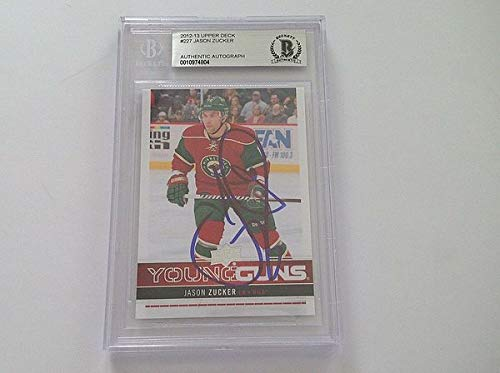 Jason Zucker Autographed Signed Memorabilia 2012/13 Young Guns Rc Card Slabbed - Beckett Authentic
