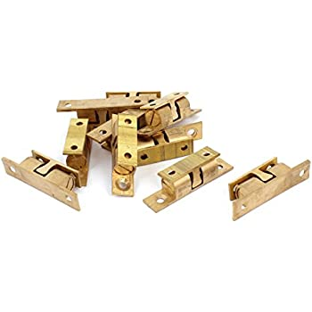 Solid Brass Cabinet Door Double Ball Latch Catch 67mm Gold