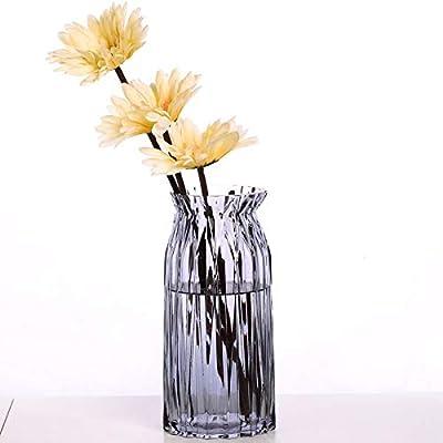 Amazon Small Bud Glass Vases In Black Metal Rack Stand Window