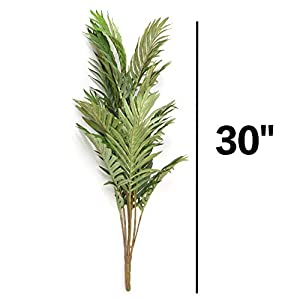 Artificial Palm Leaves Tree Plants Imitation Leaf Artificial Plants Green Greenery Plants Faux Fake Tropical Large Palm Tree Leaves Tree for Home Kitchen Party Flowers Arrangement Wedding Decorations 2