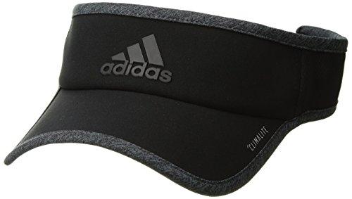 Adidas Climacool Visor - adidas Men's Superlite Performance Visor, Black/Dark Grey Heather, One Size