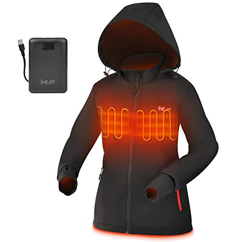 Heated Jacket for women with Battery QC3.0 14400mAH with Detachable Hood and Waterproof& Windproof Heating Jackets for…