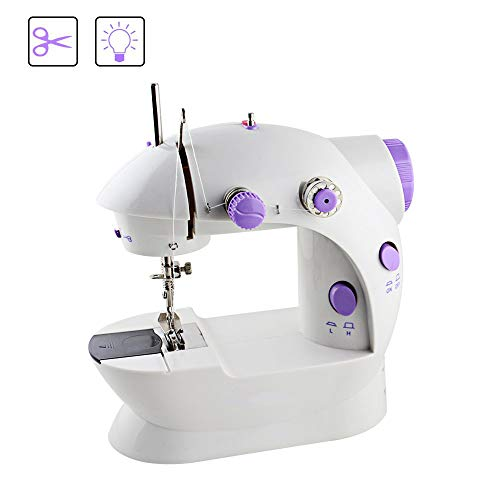 Boxtree Sewing Machines,Portable Mini Sew Machine with Needle Protector,Adjustable Double Speed with Foot Pedal
