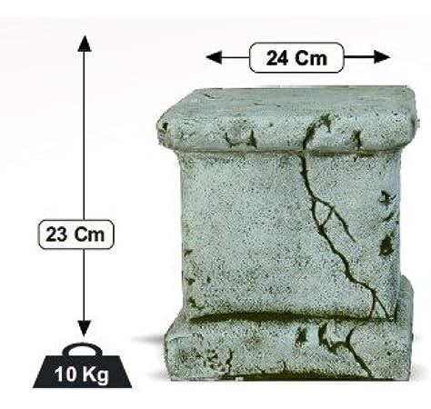 DEGARDEN Pedestal Columna de hormigón-Piedra para jardín o Exterior 24X23cm.: Amazon.es: Jardín