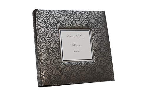 Photo album with black pages, black cover photo album, lace effect, large for 600 photos, sized 4x6 (Album Effects)