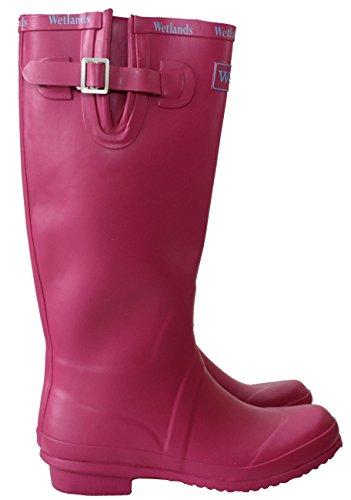 Kalb Wetlands UK Damen Wasserdichte Größen Fuchsia UK Gummistiefel Mud Festival 5 Gummistiefel 6 Regen Einstellbare 8 Schnee Damen wAgnxtqUw