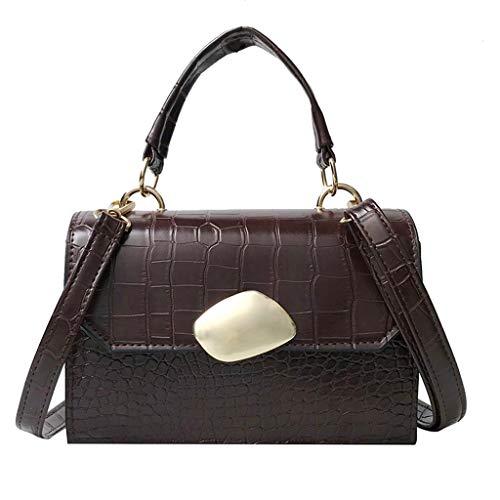- Kangma Women Vintage Crossbody Bag Square Crocodile Grain Handbag Totes Strap Adjustable Casual and Shopping Shoulder Bags